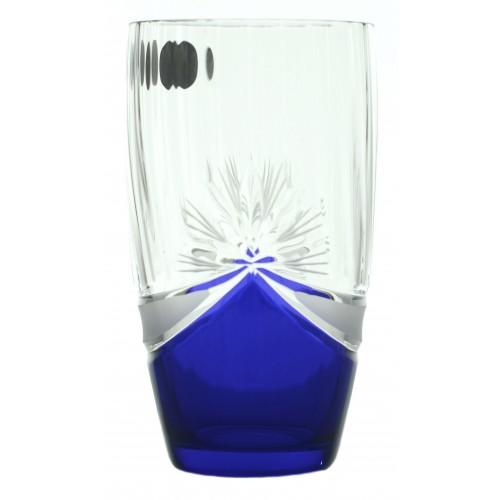 Crystal Set Crystal Glass 6x, color crystal glass - unleaded, blue dekor, volume 350 ml