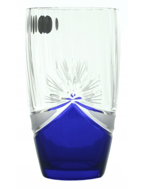 Crystal Set Crystal Glass 6x, color crystal glass - unleaded, blue dekor, volume 350 ml