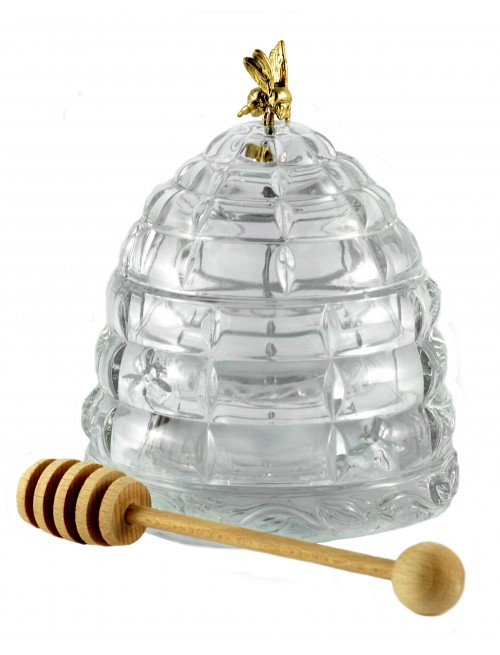 Crystal Honey Pot, color crystal clear, diameter 118 mm