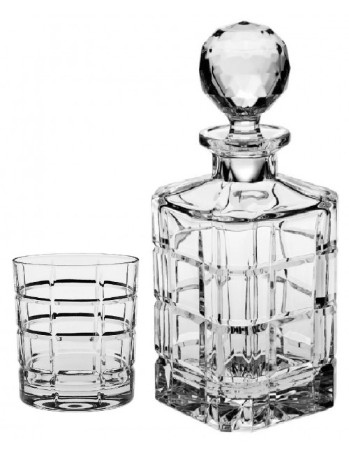 Crystal set of Whisky Timesquare 1+6, color clear crystal, volume 800 ml + 320 ml