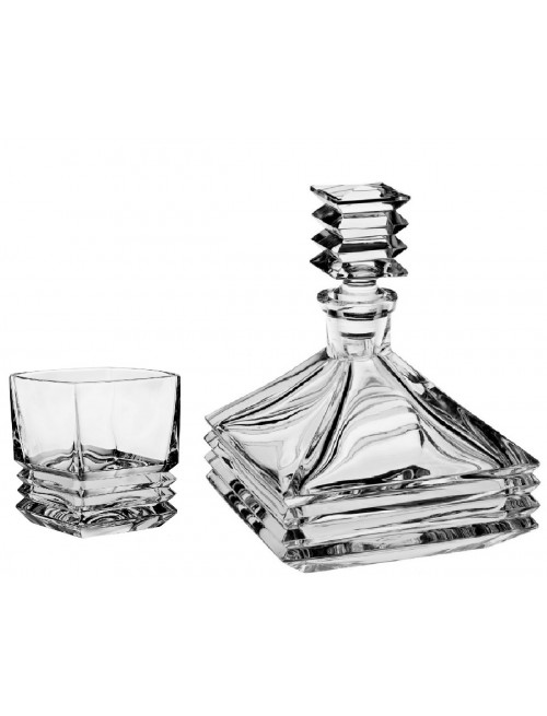 Crystal set of Whisky Maria 1+6, color clear crystal, volume 800 ml + 300 ml