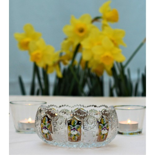 Crystal Bowl 500K gold, color clear crystal, diameter 116 mm