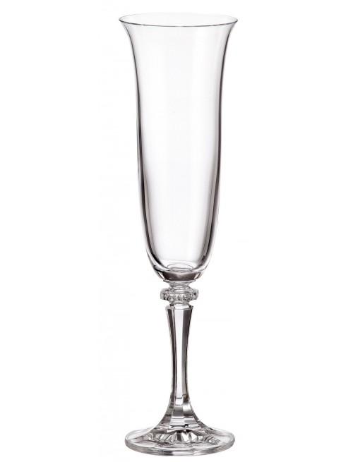 Crystal set wine glass Branta 6x, unleaded crystalite, volume 175 ml