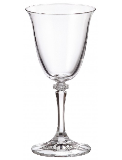 Crystal set wine glass Branta 6x, unleaded crystalite, volume 250 ml