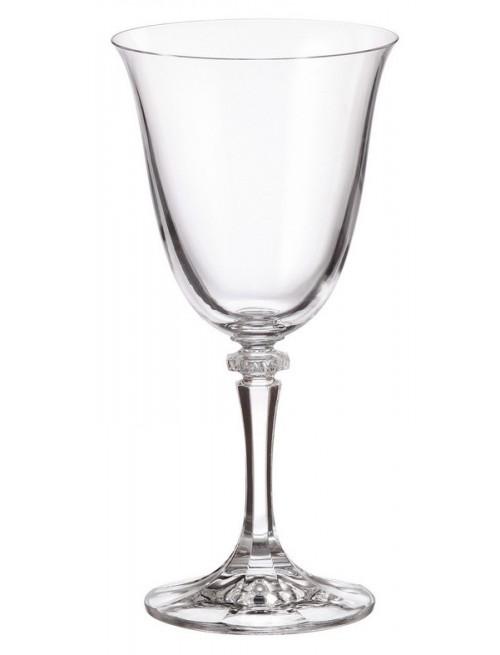 Crystal set wine glass Branta 6x, unleaded crystalite, volume 290 ml