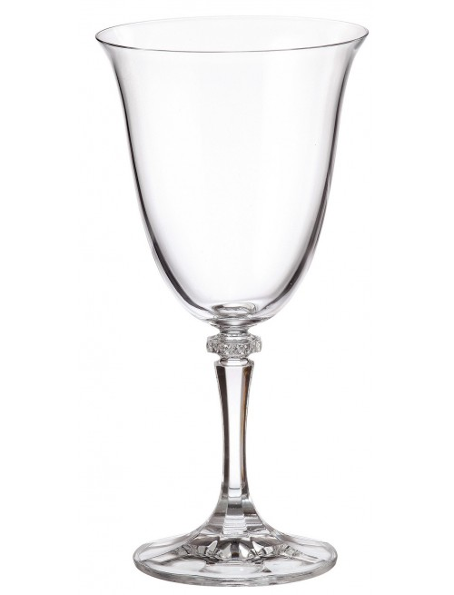 Crystal set wine glass Branta 6x, unleaded crystalite, volume 360 ml