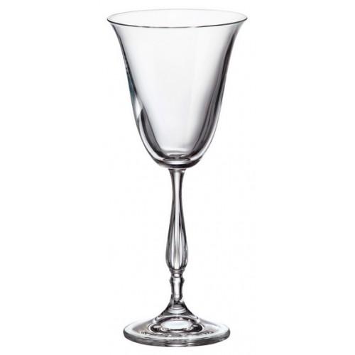 Crystal set wine glass Fregata 6x, unleaded crystalite, volume 185 ml