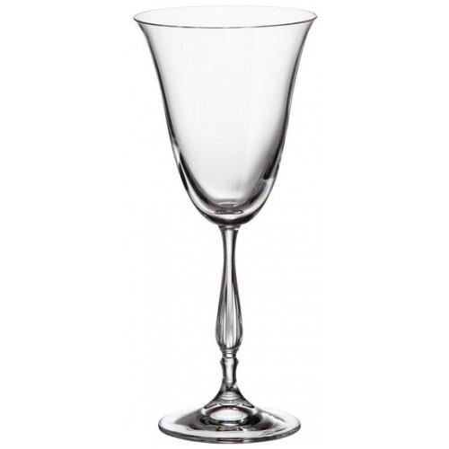 Crystal set wine glass Fregata 6x, unleaded crystalite, volume 250 ml
