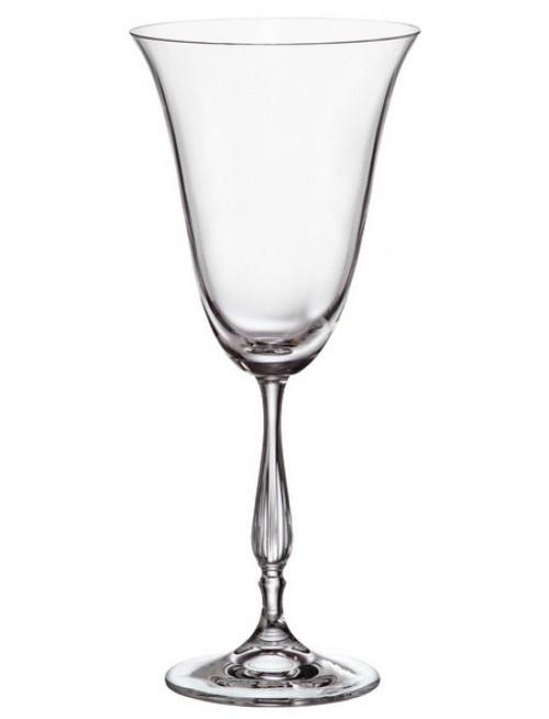 Crystal set wine glass Fregata 6x, unleaded crystalite, volume 350 ml