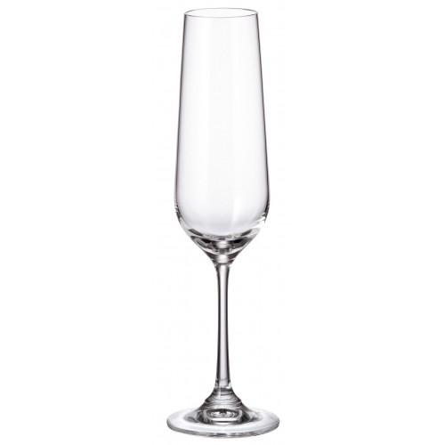 Crystal set wine glass Strix 6x, unleaded crystalite, volume 200 ml