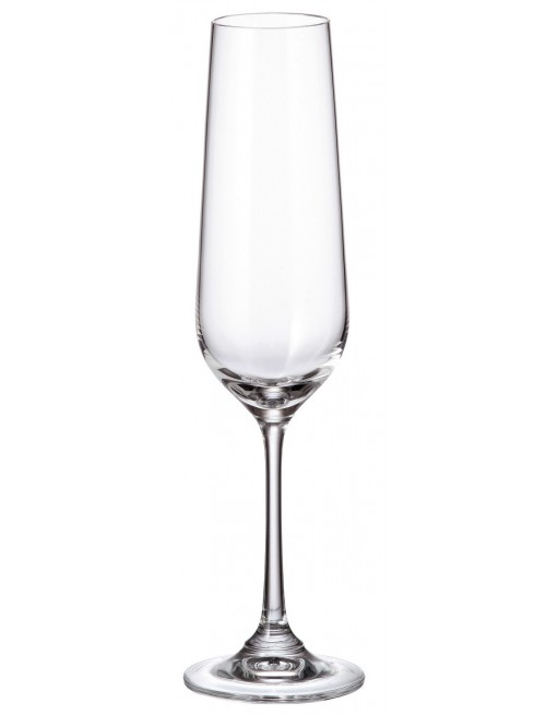 Crystal set wine glass Strix 6x, unleaded crystalite, volume 200 ml