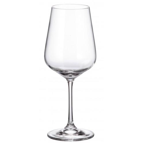 Crystal set wine glass Strix 6x, unleaded crystalite, volume 450 ml