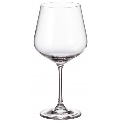 Crystal set wine glass Strix 6x, unleaded crystalite, volume 600 ml