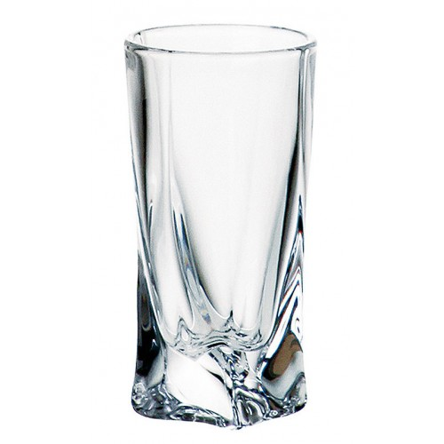 Crystal shot glass Quadro, unleaded crystalite, volume 50 ml