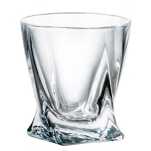 Crystal shot glass Quadro, unleaded crystalite, volume 55 ml