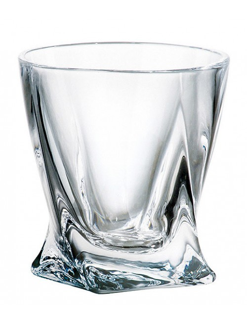 Crystal shot glass Quadro, unleaded crystalite, volume 55 ml