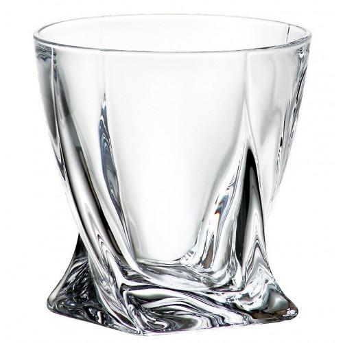 Crystal glass Quadro, unleaded crystalite, volume 340 ml