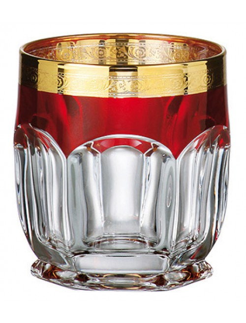 Crystal set glass Safari Gold ruby 6x, unleaded crystalite, volume 250 ml