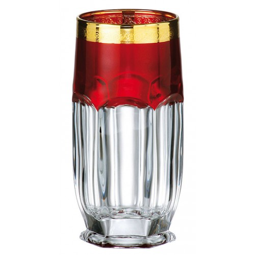 Crystal set glass Safari Gold ruby 6x, unleaded crystalite, volume 300 ml