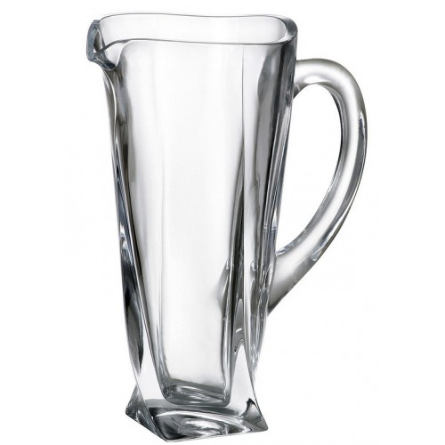 Crystal pitcher Quadro, unleaded crystalite, volume 1100 ml