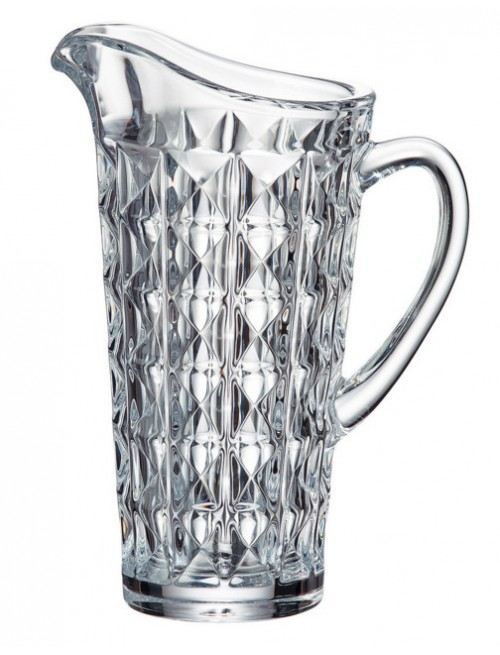 Crystal Pitcher Diamond, unleaded crystalite, volume 1250 ml