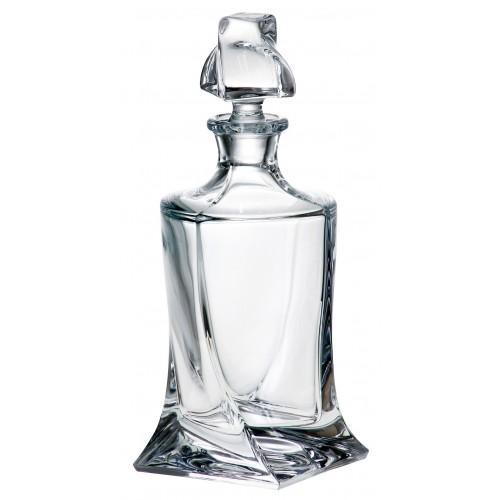 Crystal Bottle Quadro, unleaded crystalite, volume 850 ml
