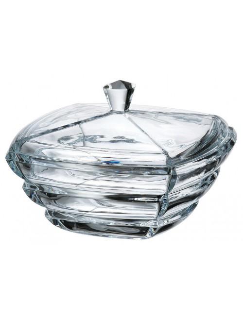 Crystal box Segment, unleaded crystalite, height 205 mm