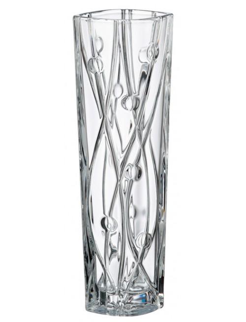 Crystal Vase Labyrinth Slim, unleaded crystalite, height 305 mm