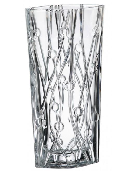 Crystal Vase Labyrinth, unleaded crystalite, height 405 mm