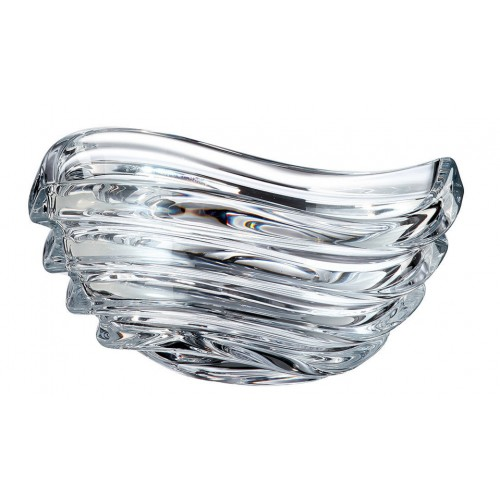 Crystal Bowl Wave, unleaded crystalite, diameter 220 mm