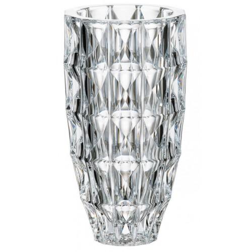 Crystal Vase Diamond, unleaded crystalite, height 255 mm