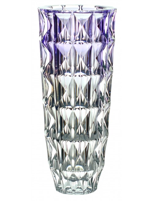 Crystal Vase Diamond, unleaded crystalite, color violet, height 330 mm