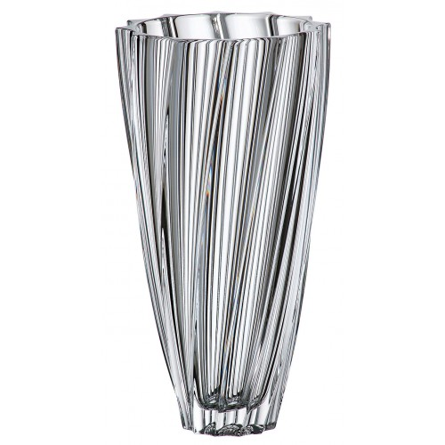 Crystal Vase Scallop, unleaded crystalite, height 305 mm