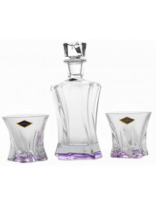 Crystal set of Whisky Cooper violet 1+2, unleaded crystalite