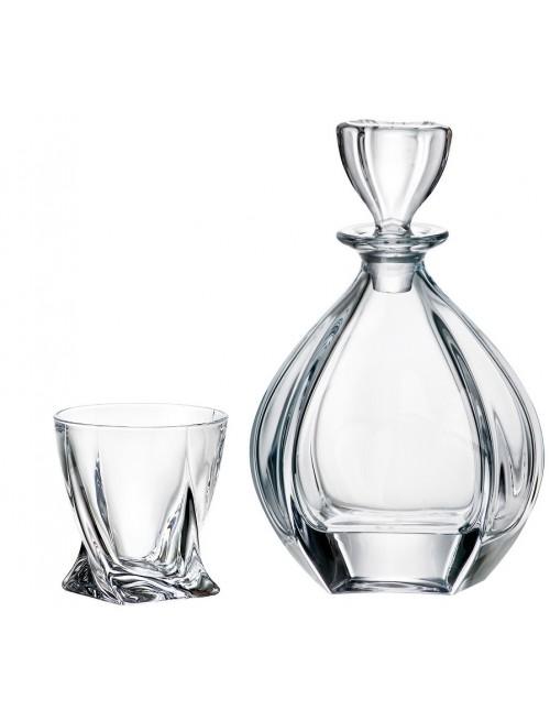 Crystal set of Whisky Laguna 1+6, unleaded crystalite