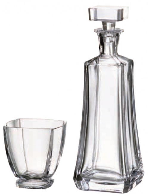 Crystal set of whisky Arezzo 1+6, color clear crystal, volume 700 ml + 350 ml