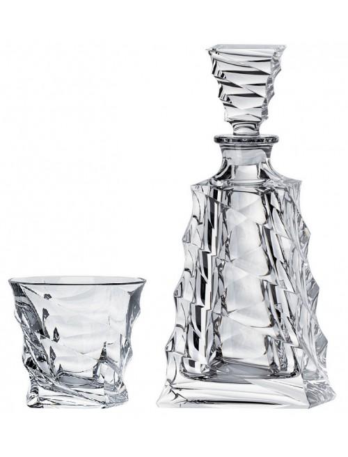 Crystal set of Whisky Casablanca 1+6, unleaded crystalite