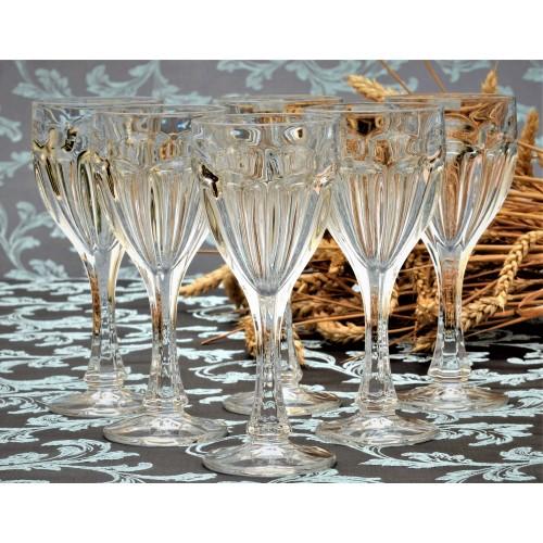 Crystal set wine glass Safari 6x, unleaded crystalite, volume 190 ml