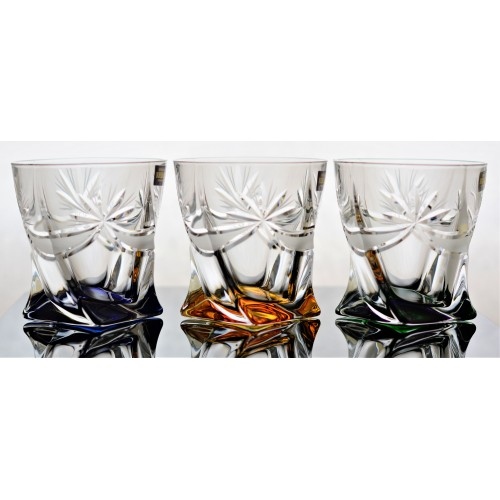 Crystal set glass Ribbon 6x, unleaded crystalite, color mix, volume 340 ml