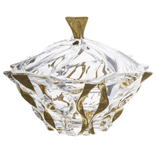 Crystal box Samba Gold, unleaded crystalite, height 210 mm