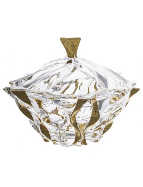 Crystal box Samba Gold, unleaded crystalite, height 210 mm
