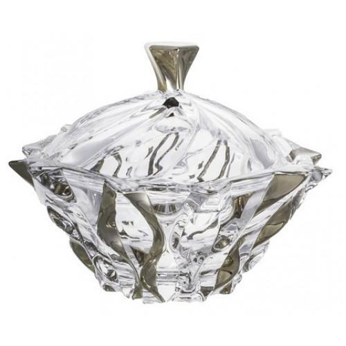 Crystal box Samba Platinum, unleaded crystalite, height 210 mm