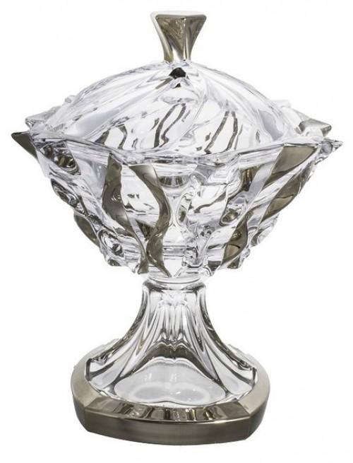 Crystal box Samba Platinum, unleaded crystalite, height 250 mm