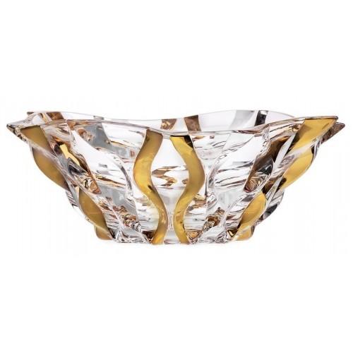 Crystal bowl Samba gold, unleaded clear glass, diameter 305 mm