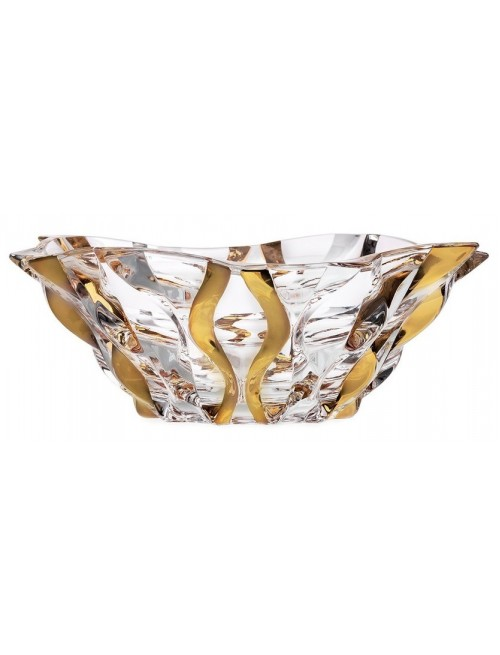 Crystal bowl Samba gold, unleaded clear glass, diameter 305 mm