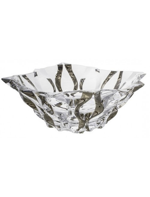 Crystal bowl Samba platinum, unleaded clear glass, diameter 305 mm