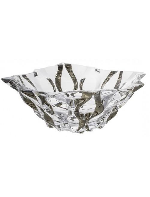 Crystal bowl Samba platinum, unleaded clear glass, diameter 305 mm