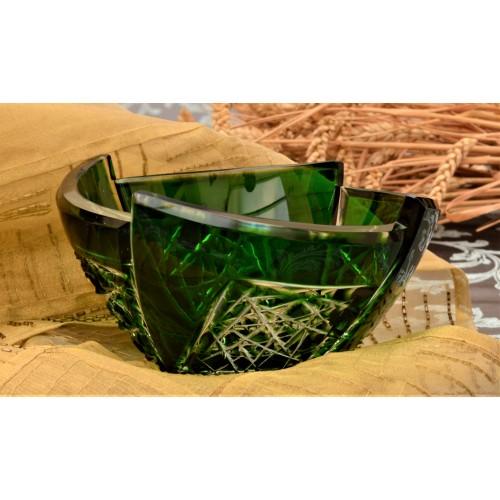 Crystal Bowl Fan, color green, diameter 180 mm