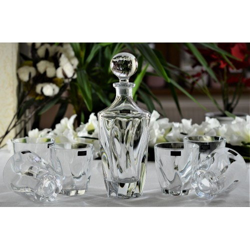 Crystal set of Whisky Barley 1+6, unleaded crystalite