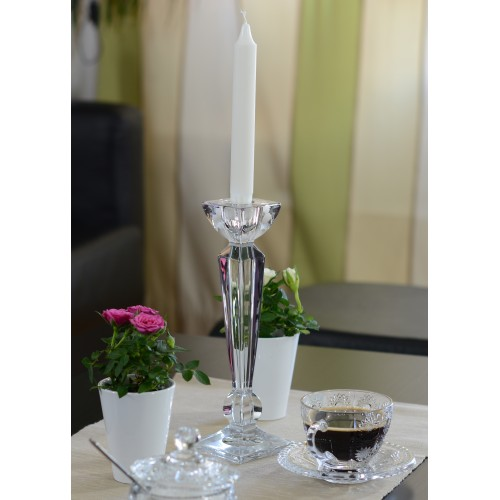 Crystal Candlestick Olympia, unleaded crystalite, height 255 mm